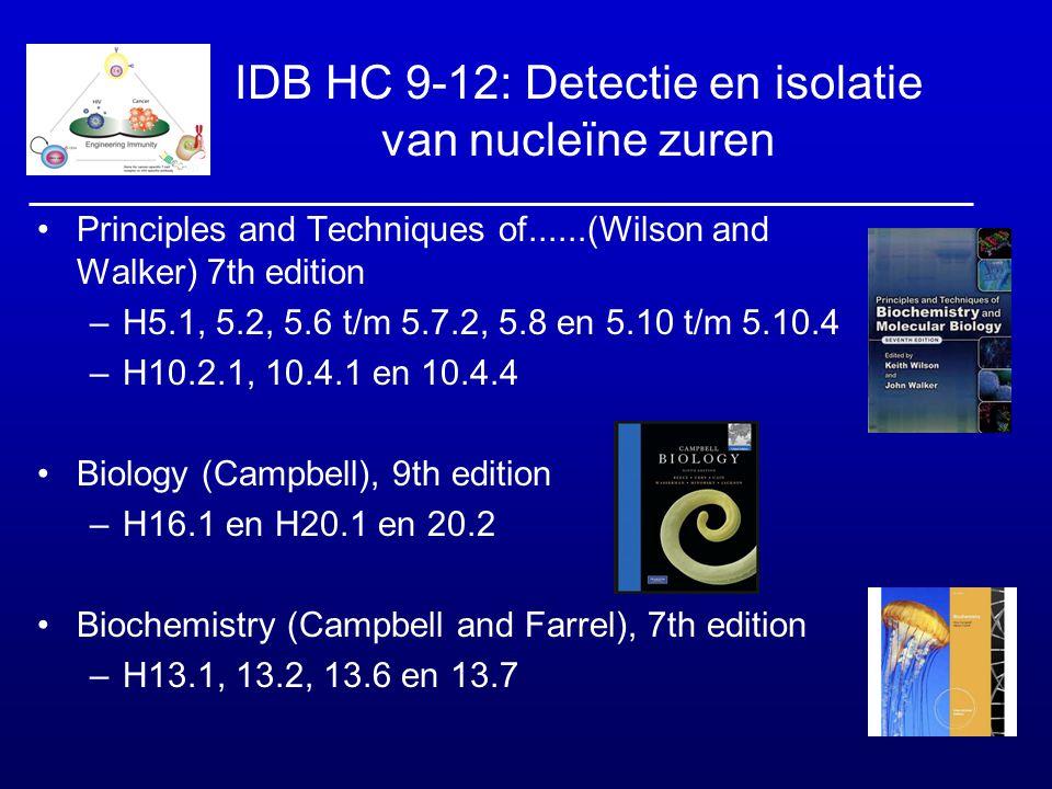 IDB HC 9-12: Detectie en isolatie van nucleïne zuren