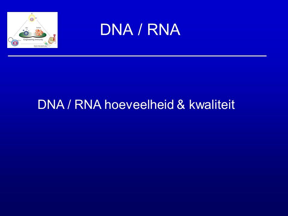 DNA / RNA hoeveelheid & kwaliteit