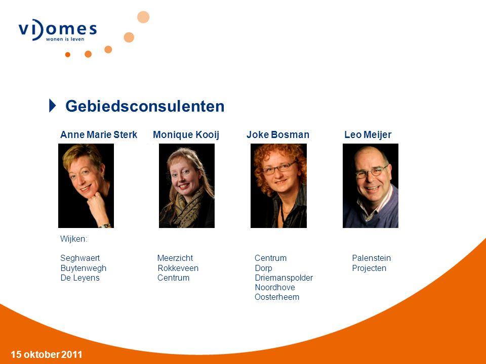 Gebiedsconsulenten Anne Marie Sterk Monique Kooij Joke Bosman Leo Meijer.