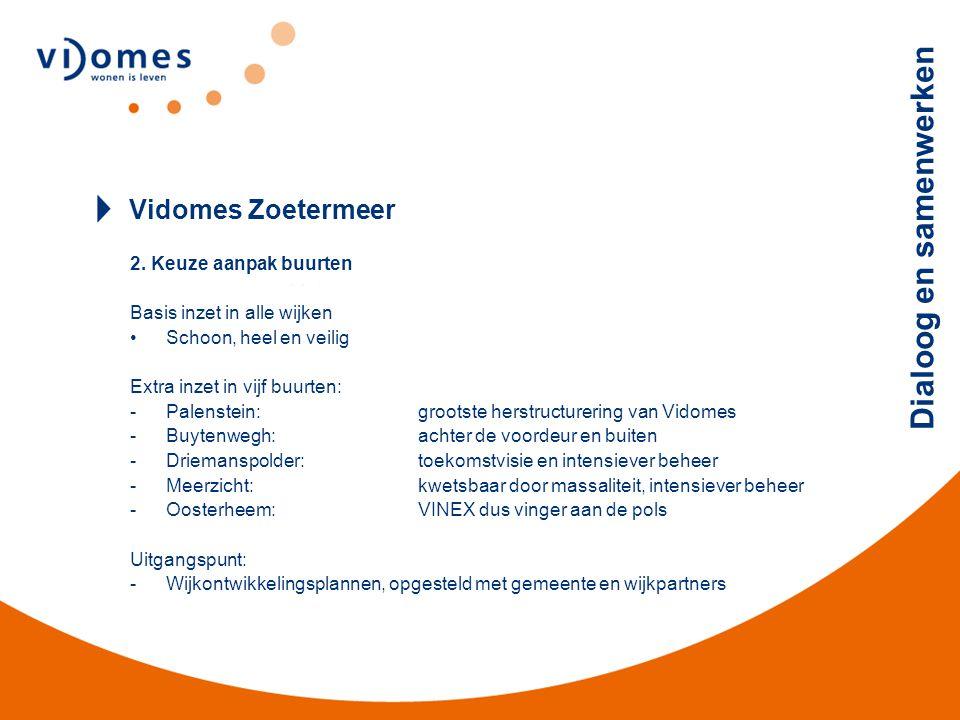 Vidomes Zoetermeer 2. Keuze aanpak buurten Basis inzet in alle wijken