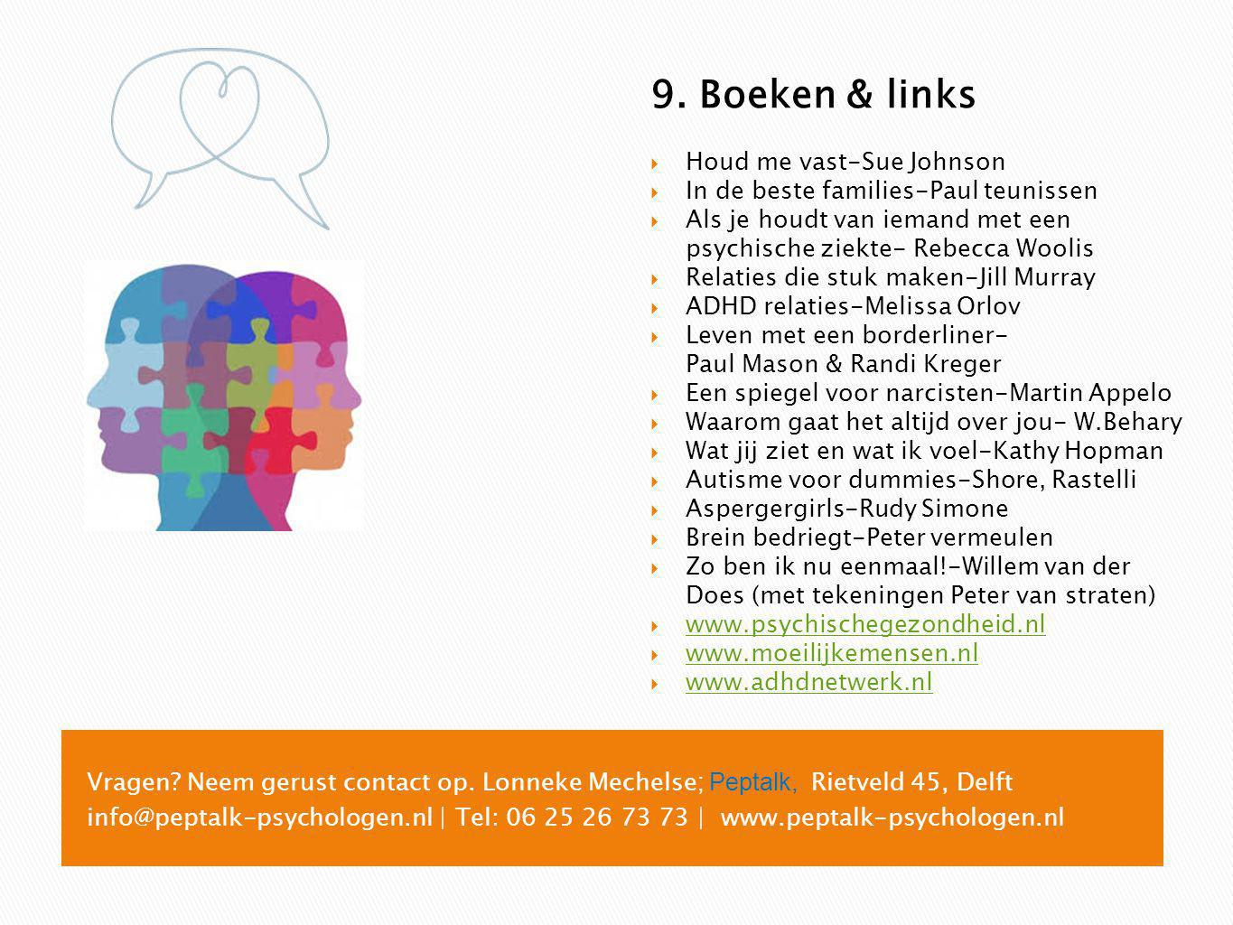9. Boeken & links Houd me vast-Sue Johnson