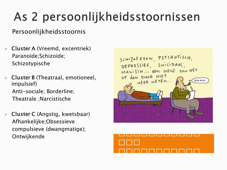 As 2 persoonlijkheidsstoornissen