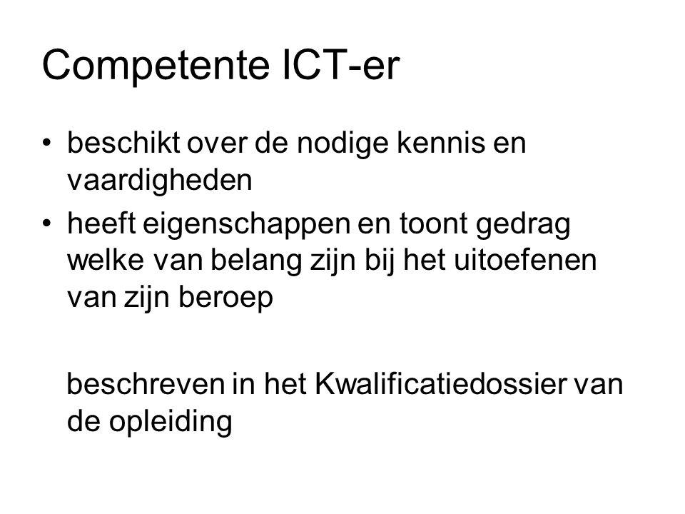 Competente ICT-er beschikt over de nodige kennis en vaardigheden
