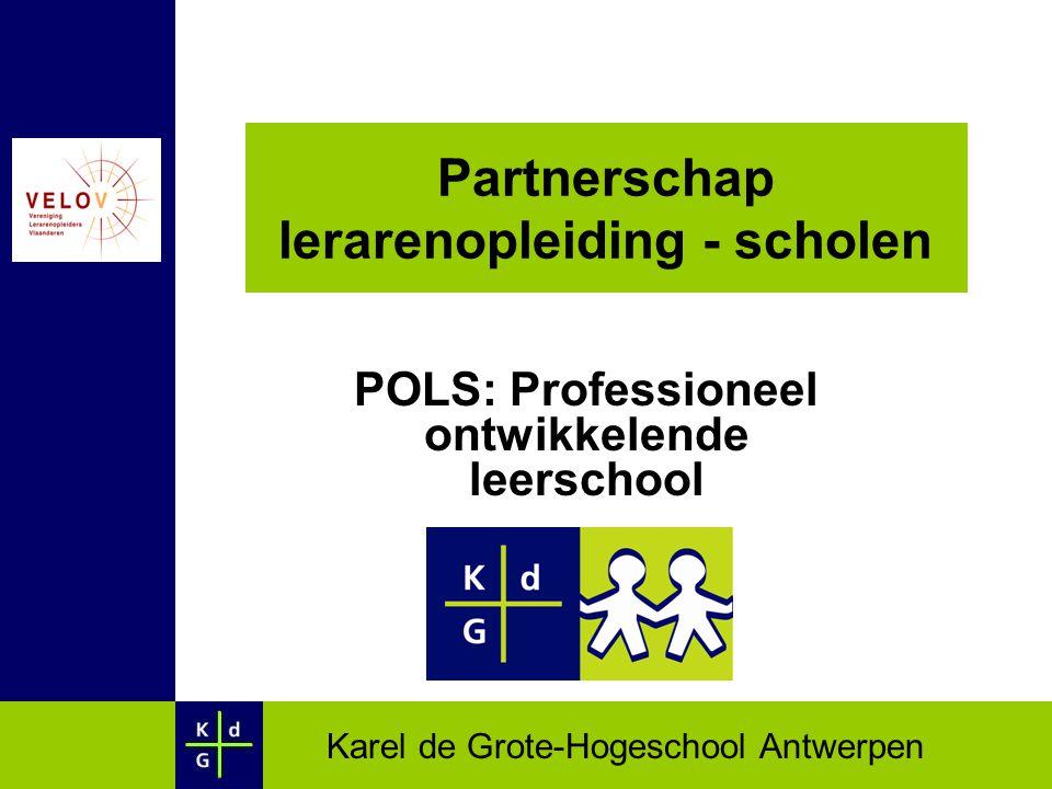 Partnerschap lerarenopleiding - scholen