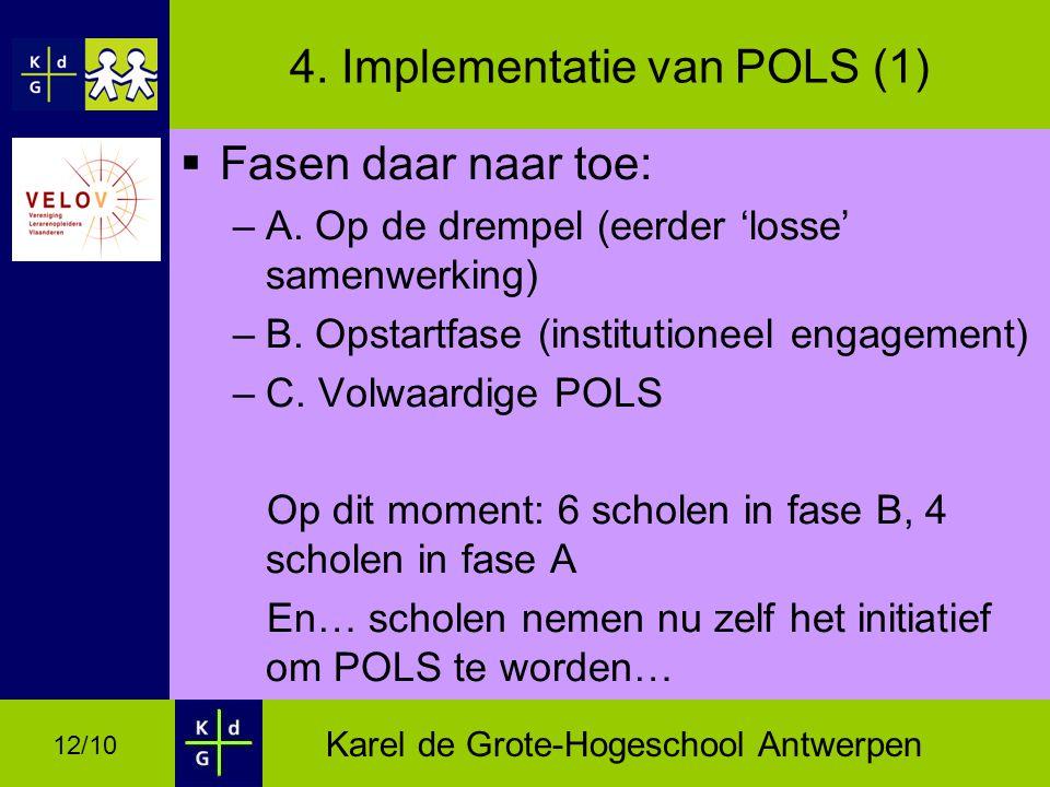 4. Implementatie van POLS (1)