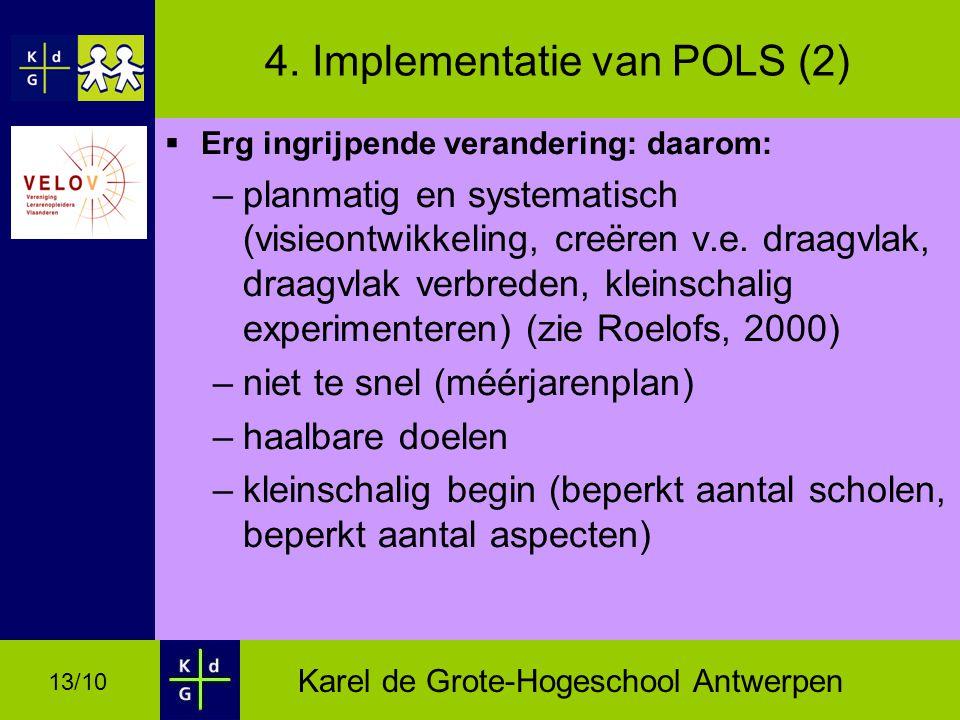 4. Implementatie van POLS (2)