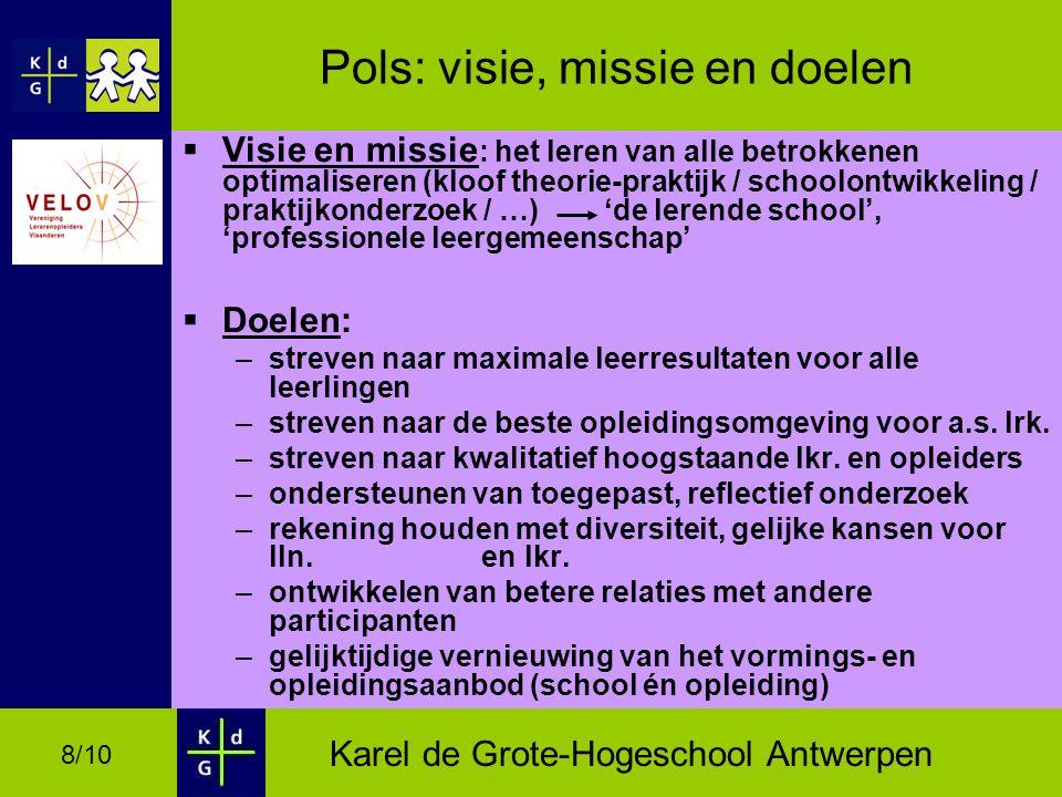 Pols: visie, missie en doelen