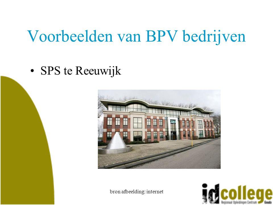 Voorbeelden van BPV bedrijven
