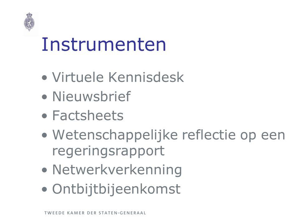 Instrumenten Virtuele Kennisdesk Nieuwsbrief Factsheets