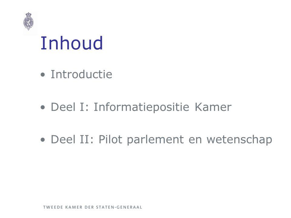 Inhoud Introductie Deel I: Informatiepositie Kamer