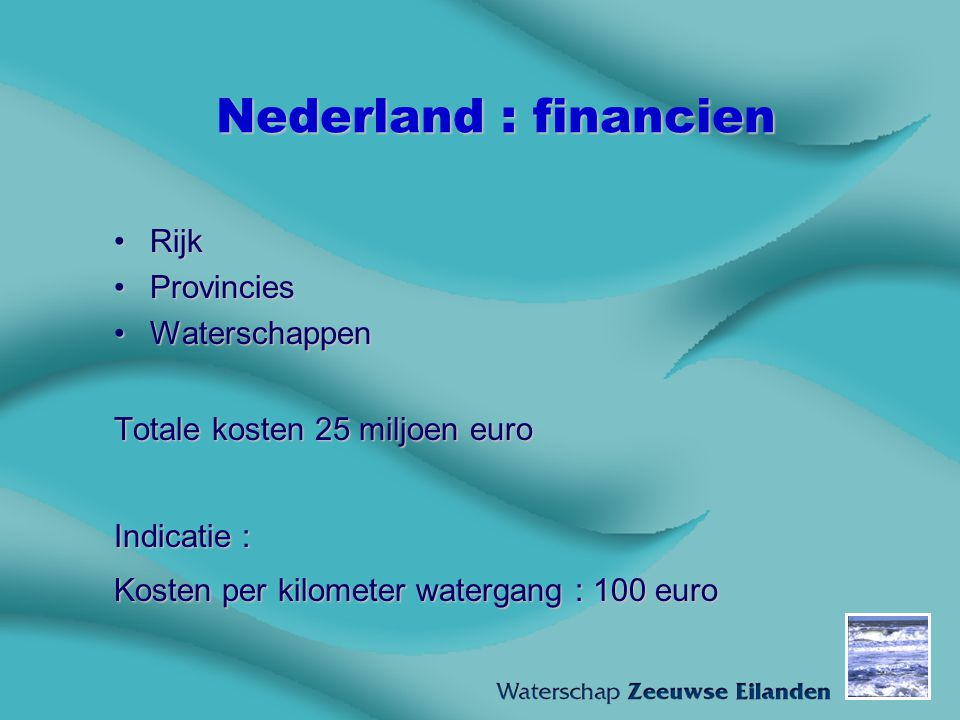 Nederland : financien Rijk Provincies Waterschappen