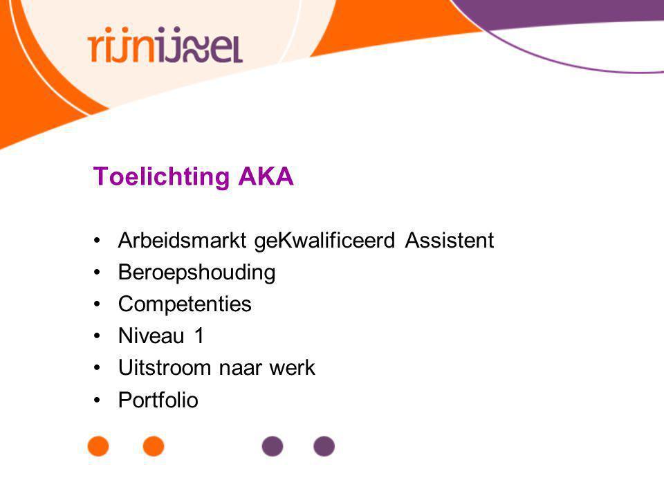 Toelichting AKA Arbeidsmarkt geKwalificeerd Assistent Beroepshouding