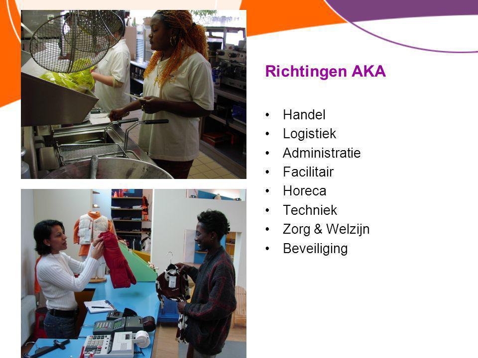 Richtingen AKA Handel Logistiek Administratie Facilitair Horeca