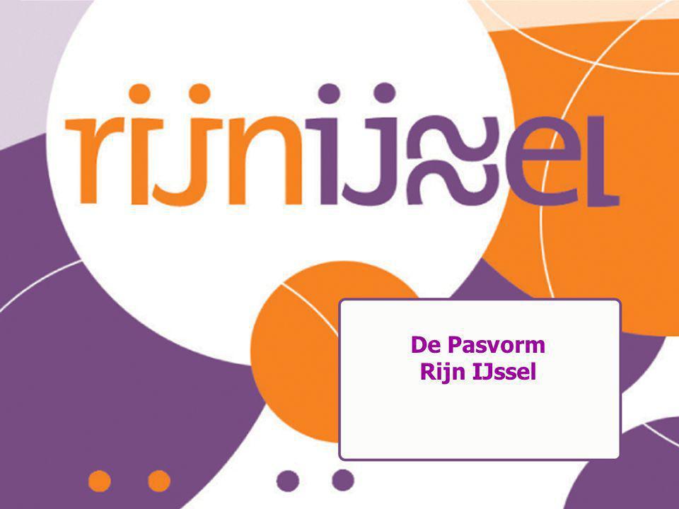 De Pasvorm Rijn IJssel Educatie-Pasvorm 21-01-2009 16