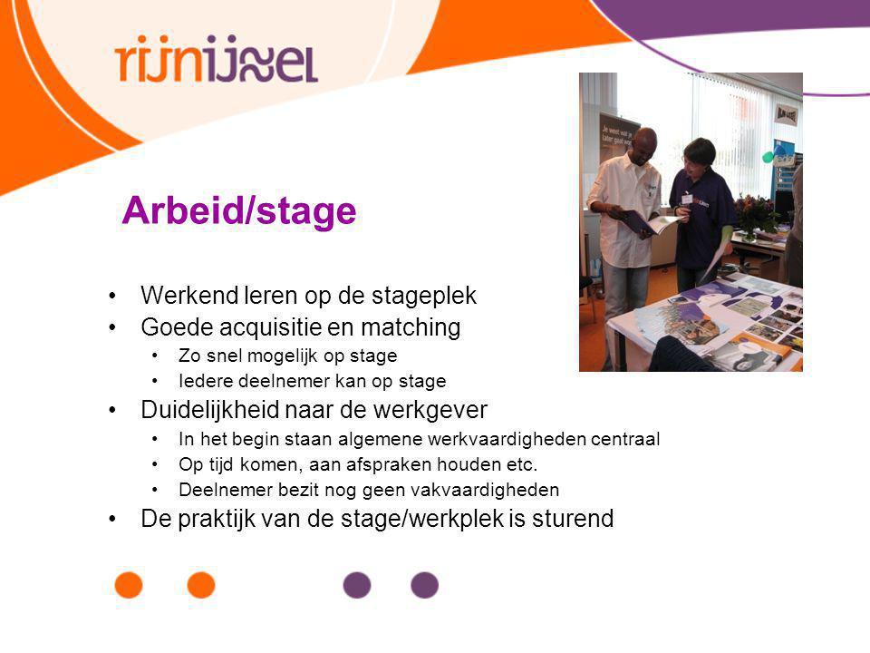 Arbeid/stage Werkend leren op de stageplek