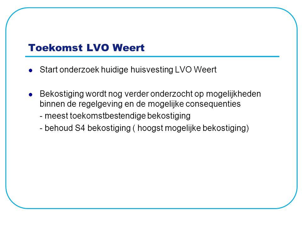 Toekomst LVO Weert Start onderzoek huidige huisvesting LVO Weert