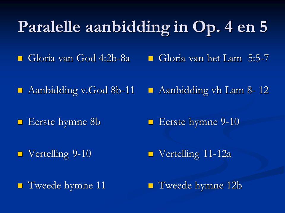 Paralelle aanbidding in Op. 4 en 5