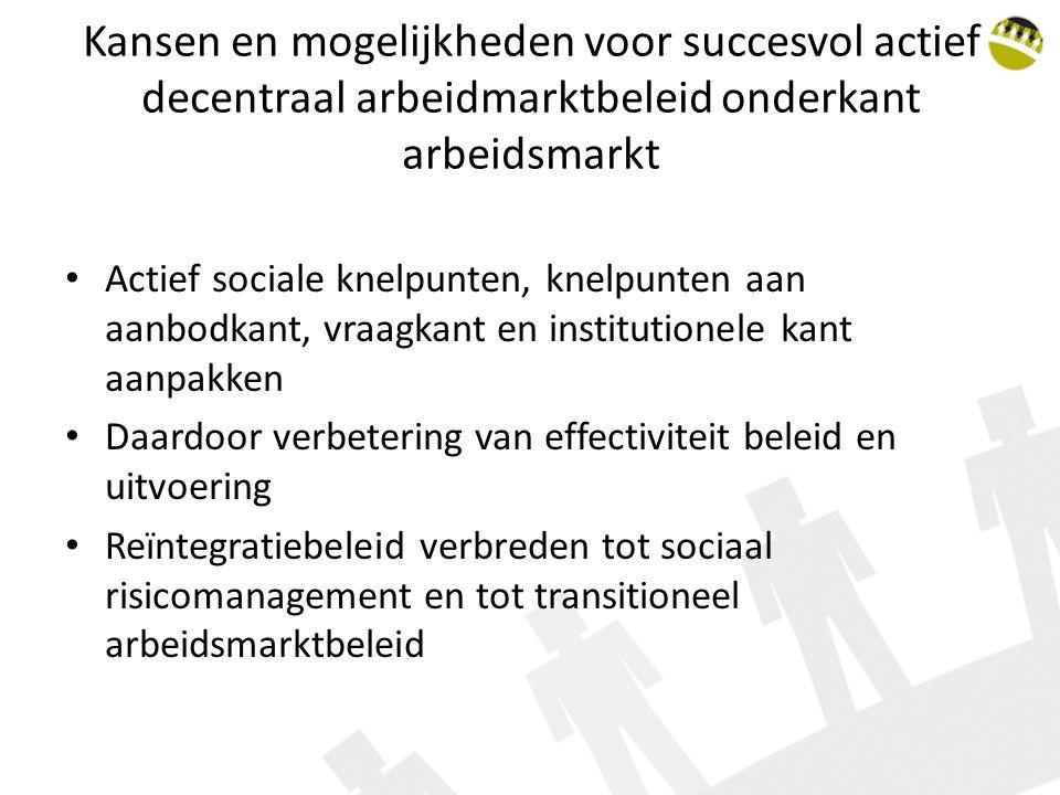 Kansen en mogelijkheden voor succesvol actief decentraal arbeidmarktbeleid onderkant arbeidsmarkt