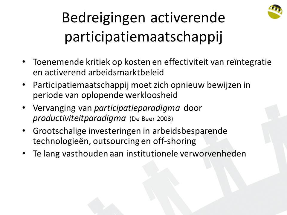 Bedreigingen activerende participatiemaatschappij