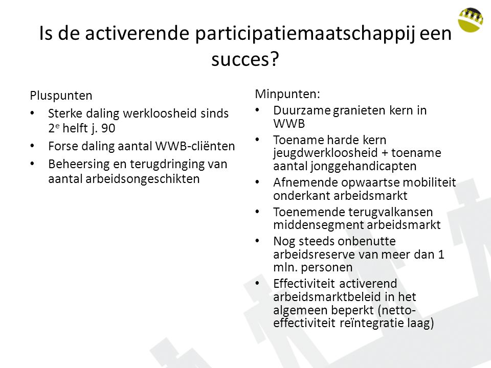Is de activerende participatiemaatschappij een succes