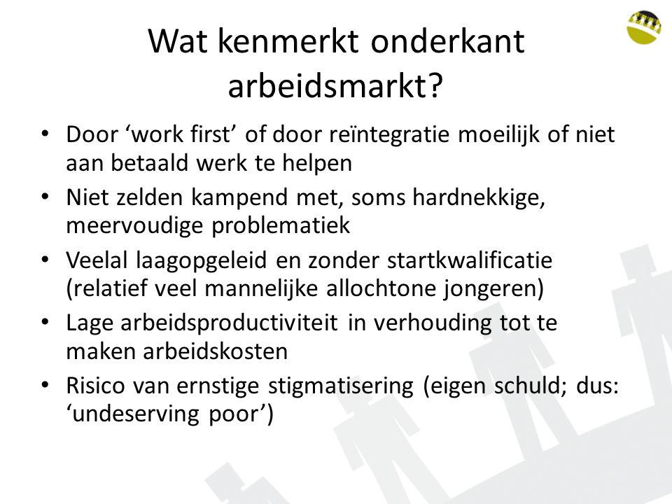 Wat kenmerkt onderkant arbeidsmarkt
