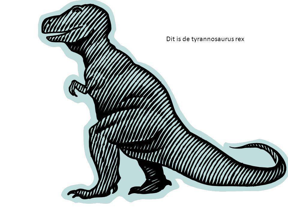 Dit is de tyrannosaurus rex