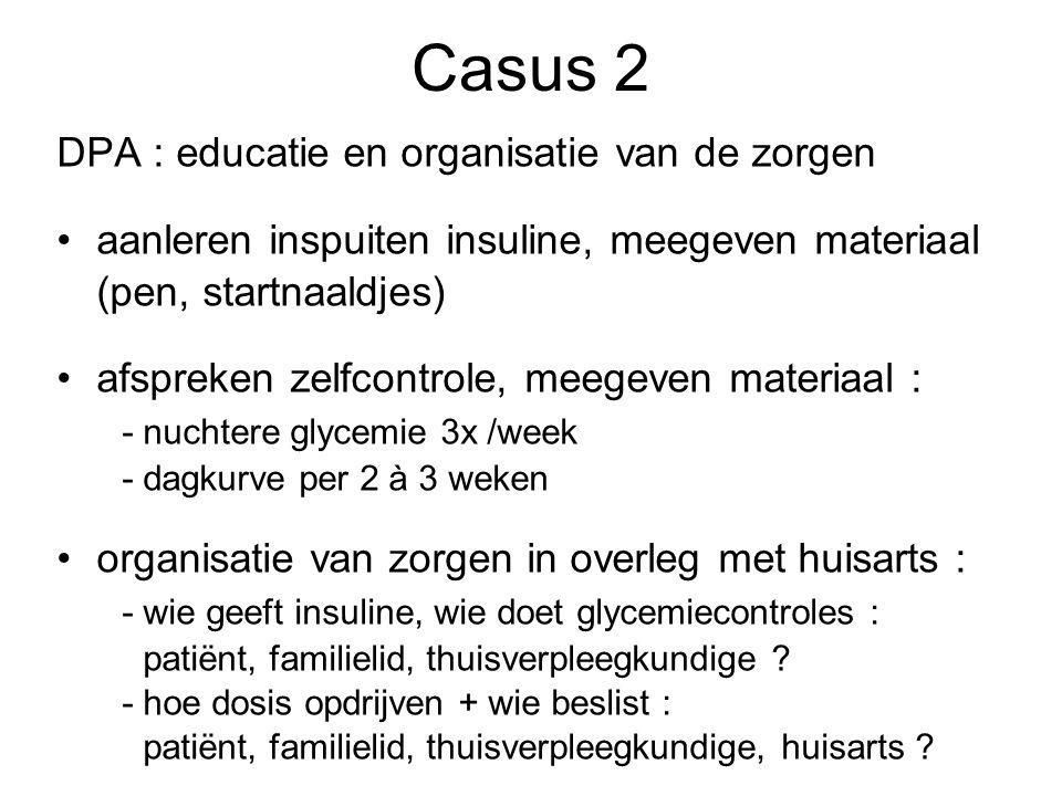 Casus 2 DPA : educatie en organisatie van de zorgen