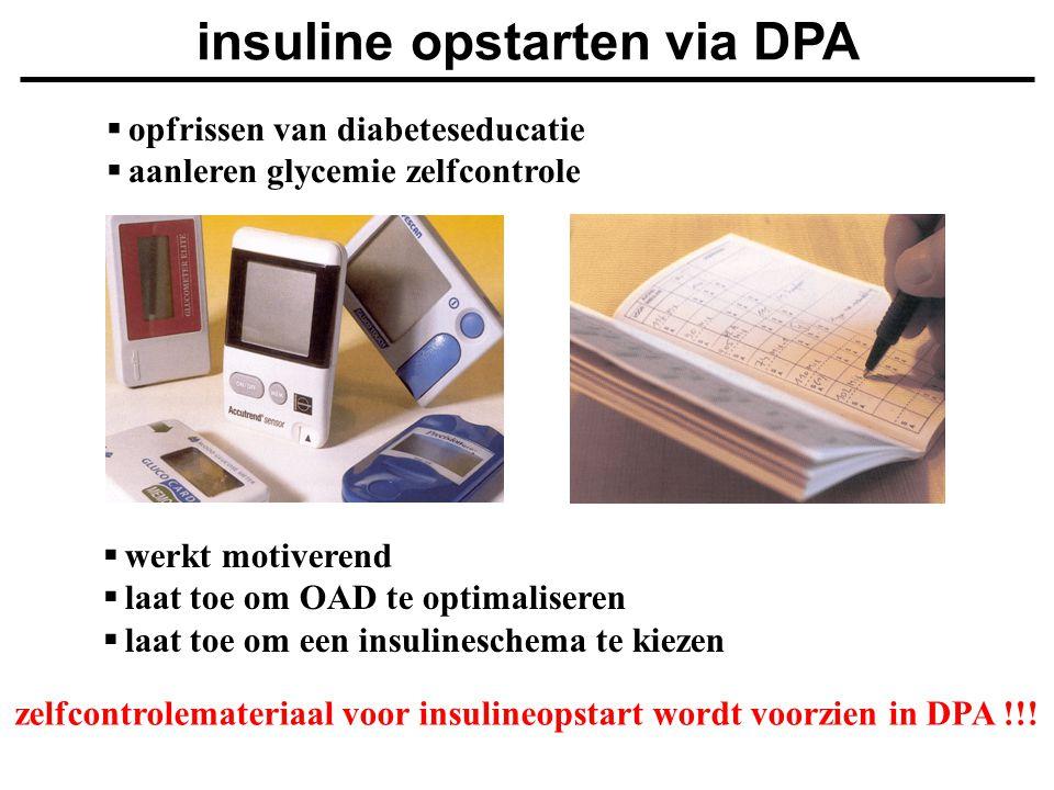 insuline opstarten via DPA