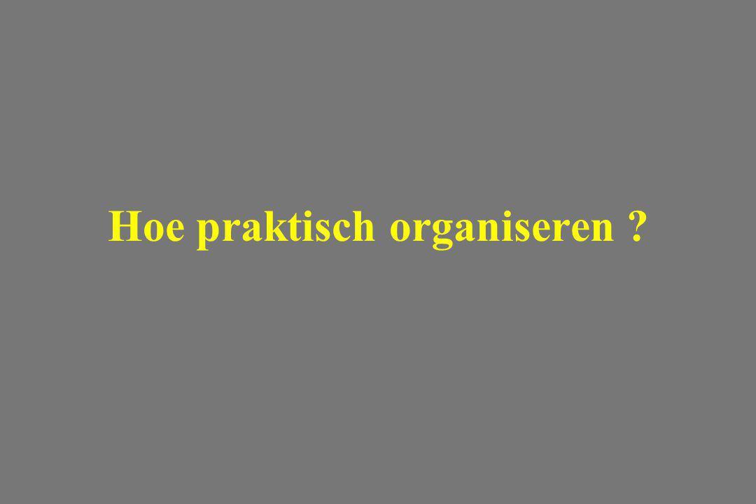 Hoe praktisch organiseren