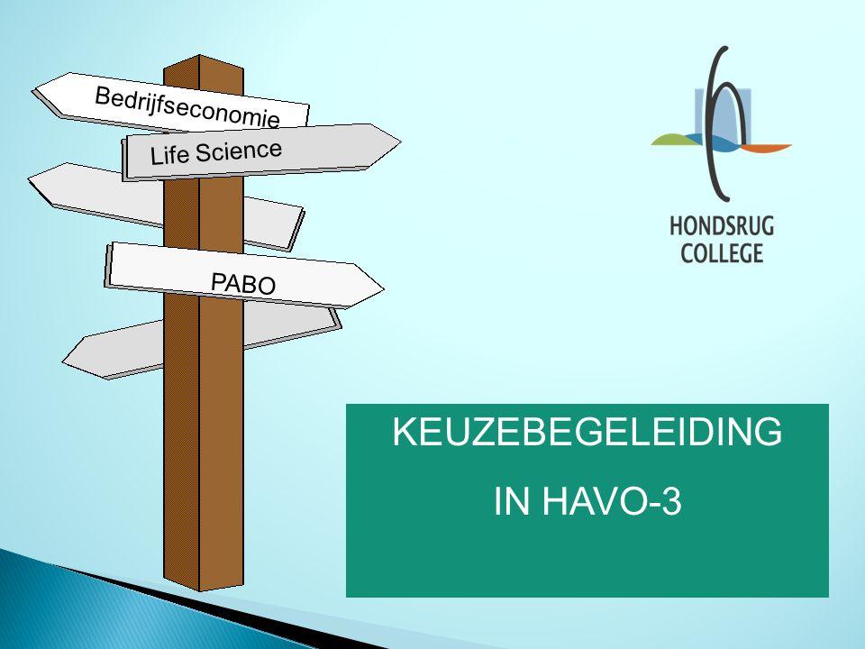 PABO Bedrijfseconomie Life Science KEUZEBEGELEIDING IN HAVO-3