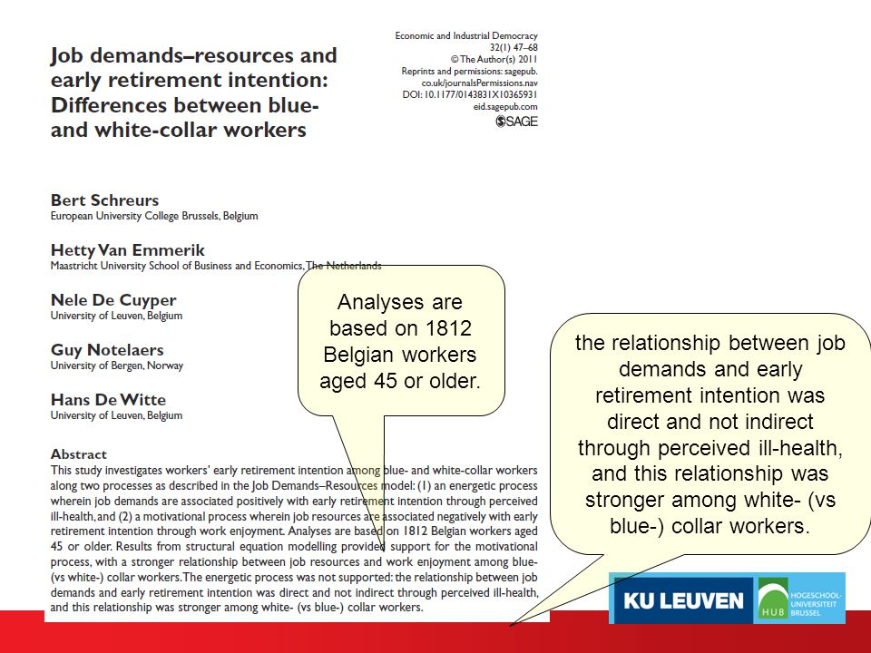 Analyses are based on 1812 Belgian workers aged 45 or older.