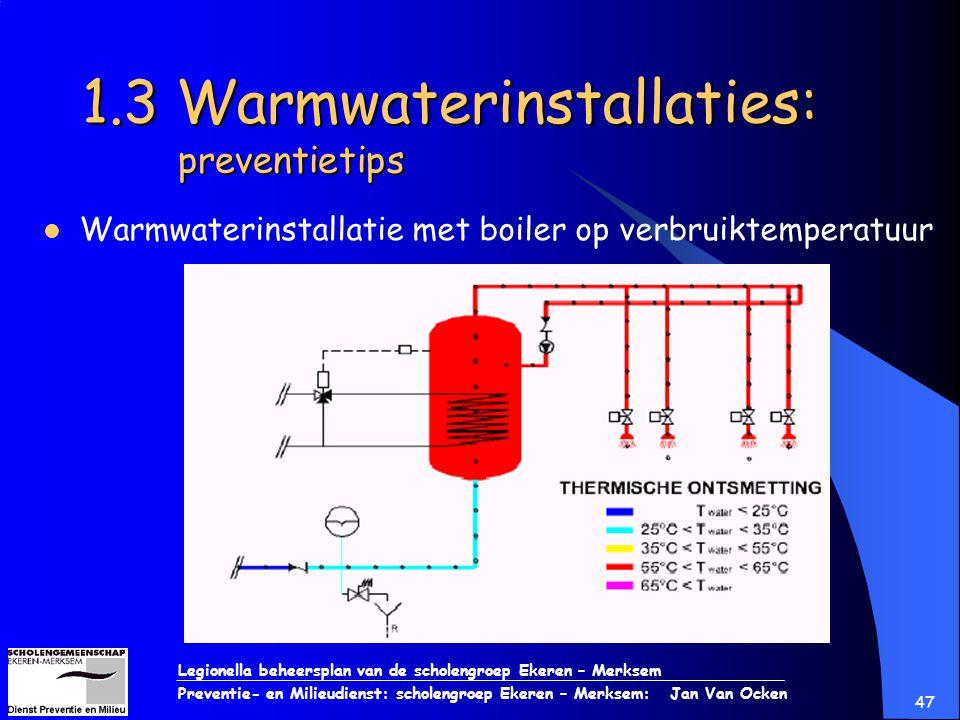 1.3 Warmwaterinstallaties: preventietips