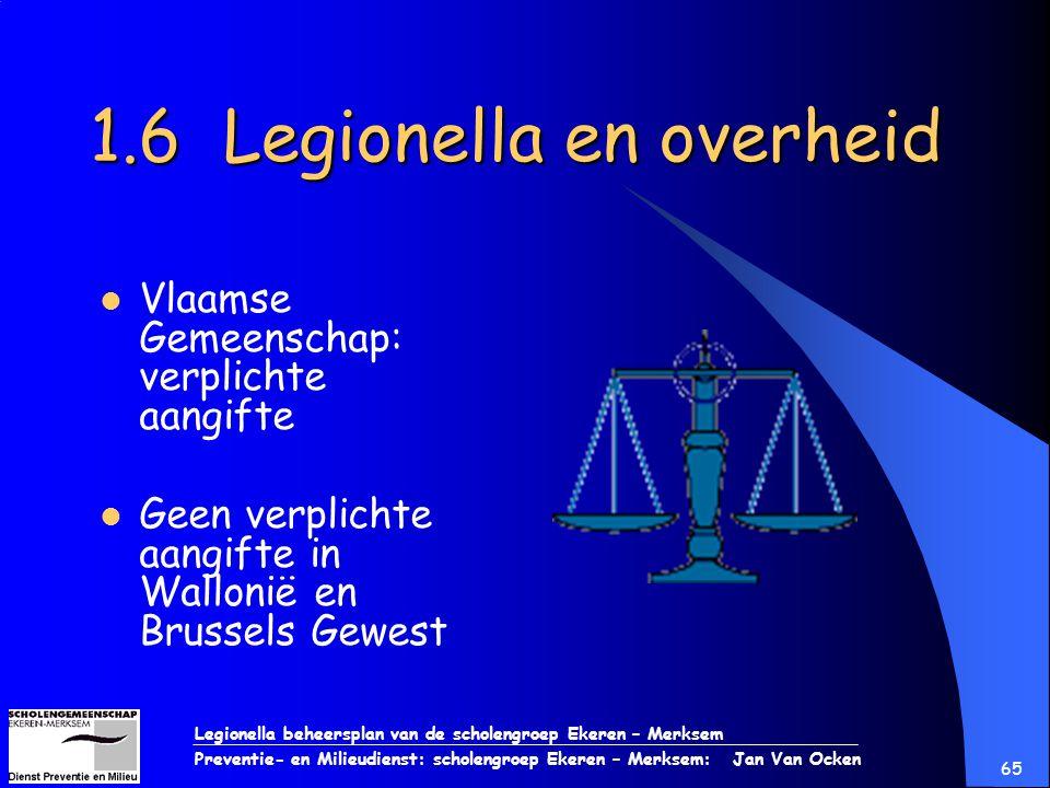 1.6 Legionella en overheid