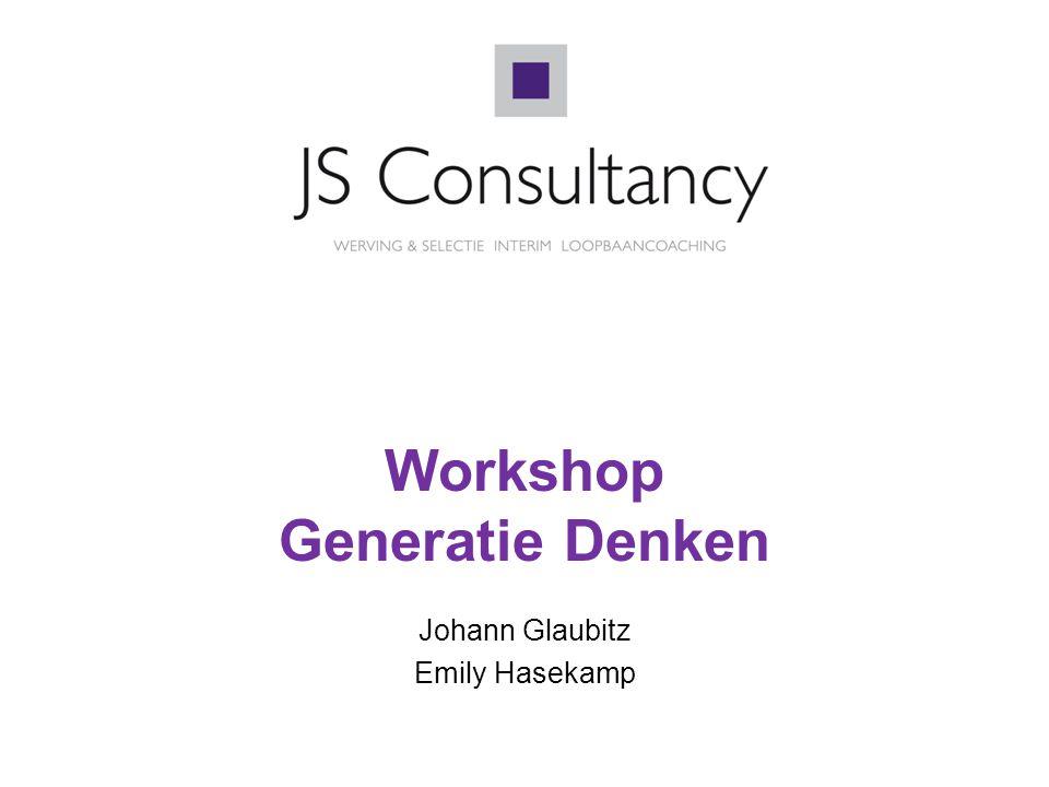 Workshop Generatie Denken