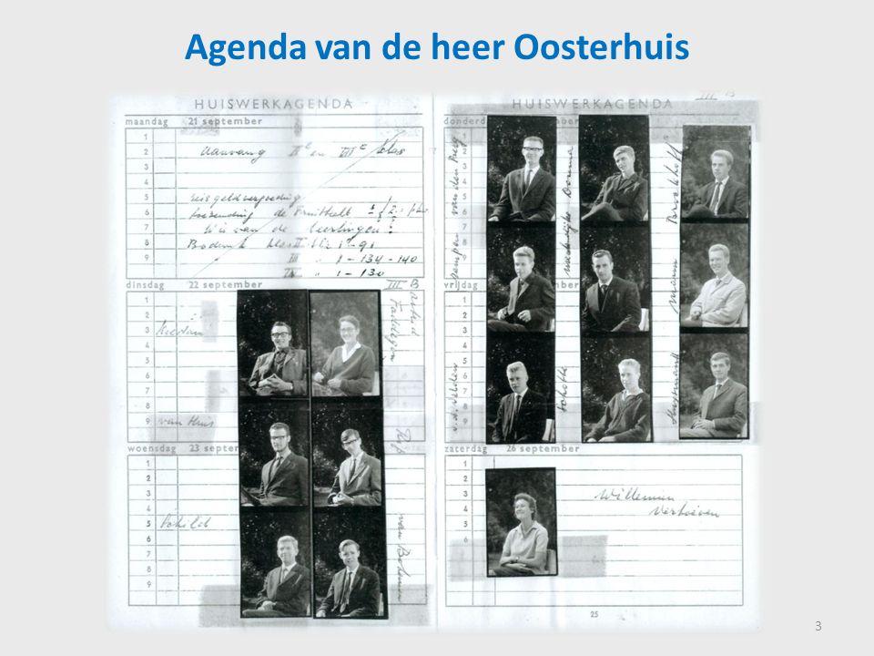 Agenda van de heer Oosterhuis