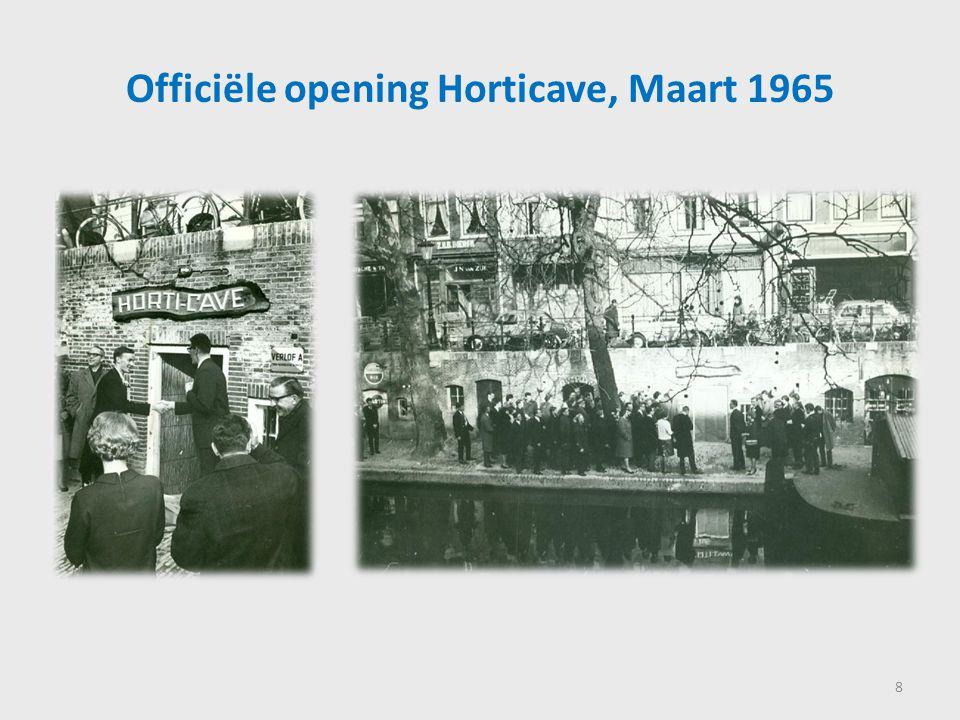 Officiële opening Horticave, Maart 1965