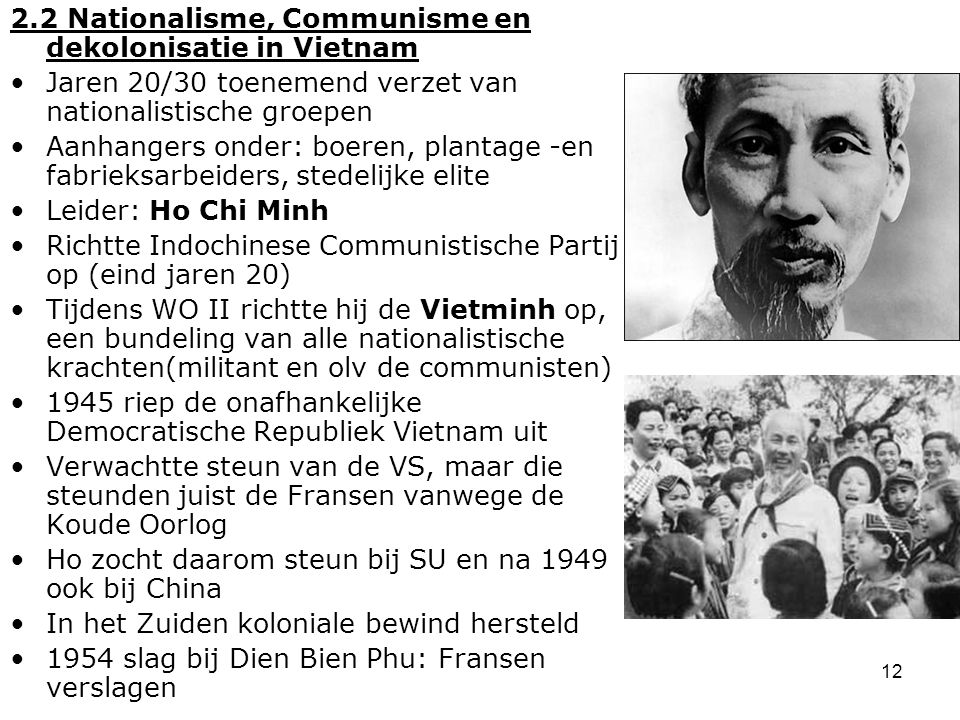2.2 Nationalisme, Communisme en dekolonisatie in Vietnam