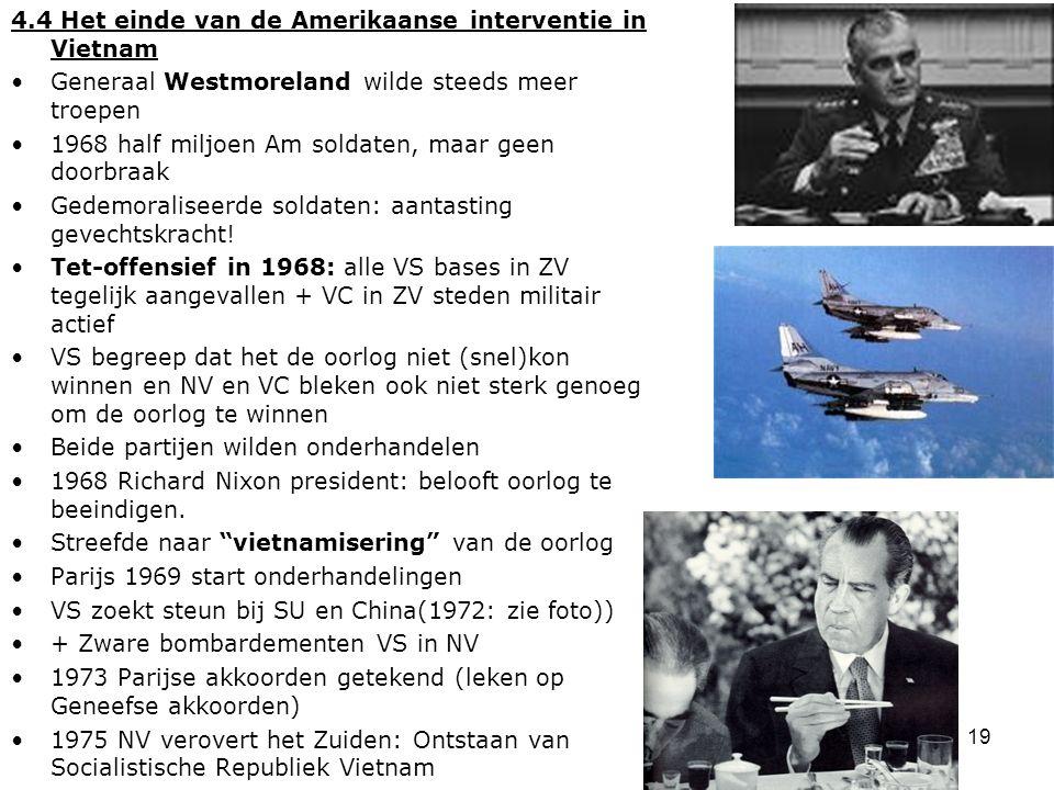 4.4 Het einde van de Amerikaanse interventie in Vietnam