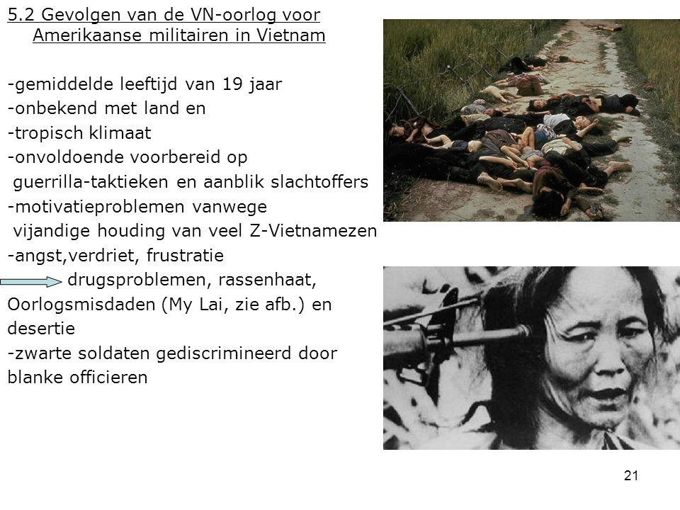 5.2 Gevolgen van de VN-oorlog voor Amerikaanse militairen in Vietnam