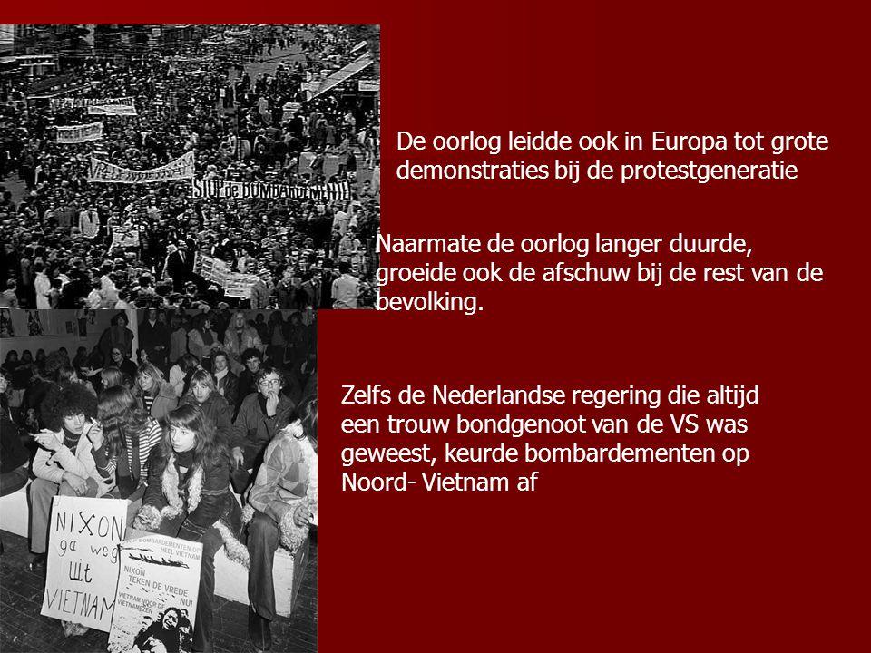 De oorlog leidde ook in Europa tot grote demonstraties bij de protestgeneratie