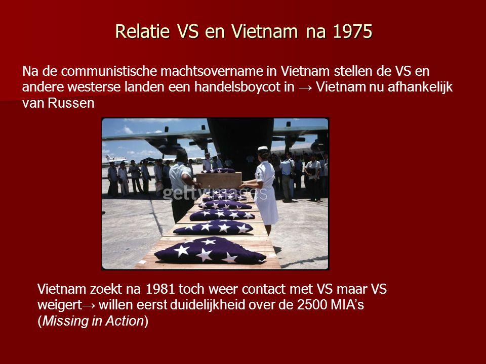 Relatie VS en Vietnam na 1975