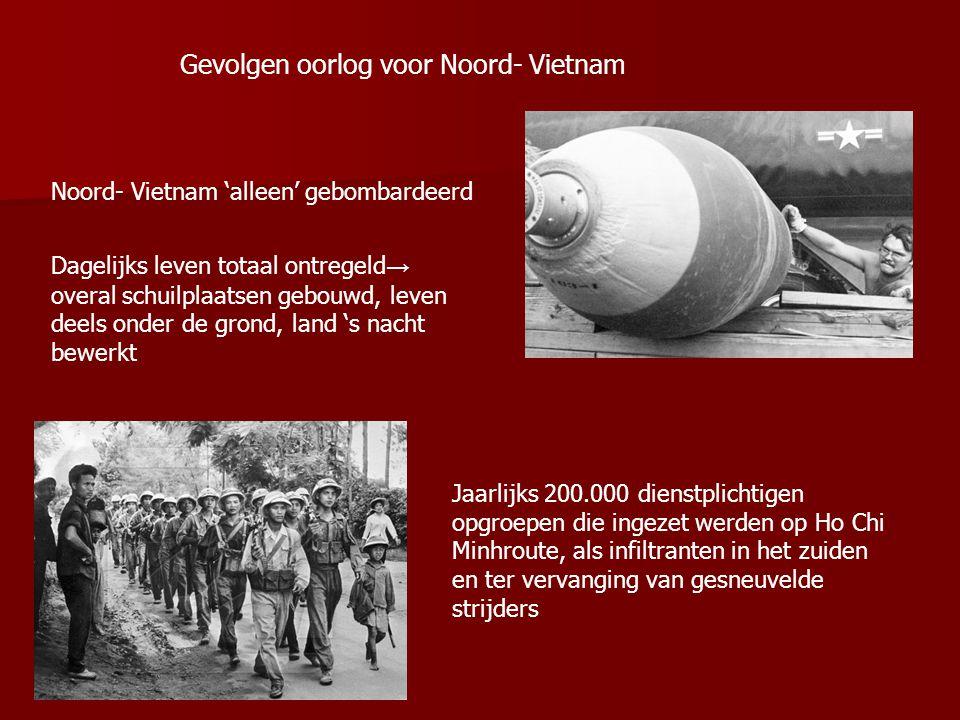 Gevolgen oorlog voor Noord- Vietnam