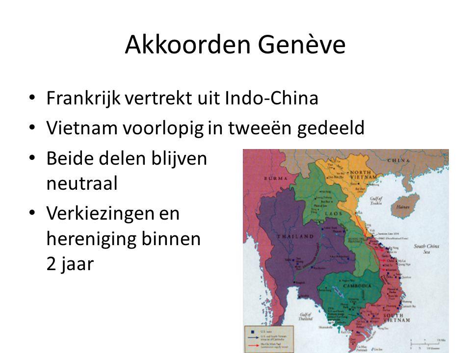 Akkoorden Genève Frankrijk vertrekt uit Indo-China