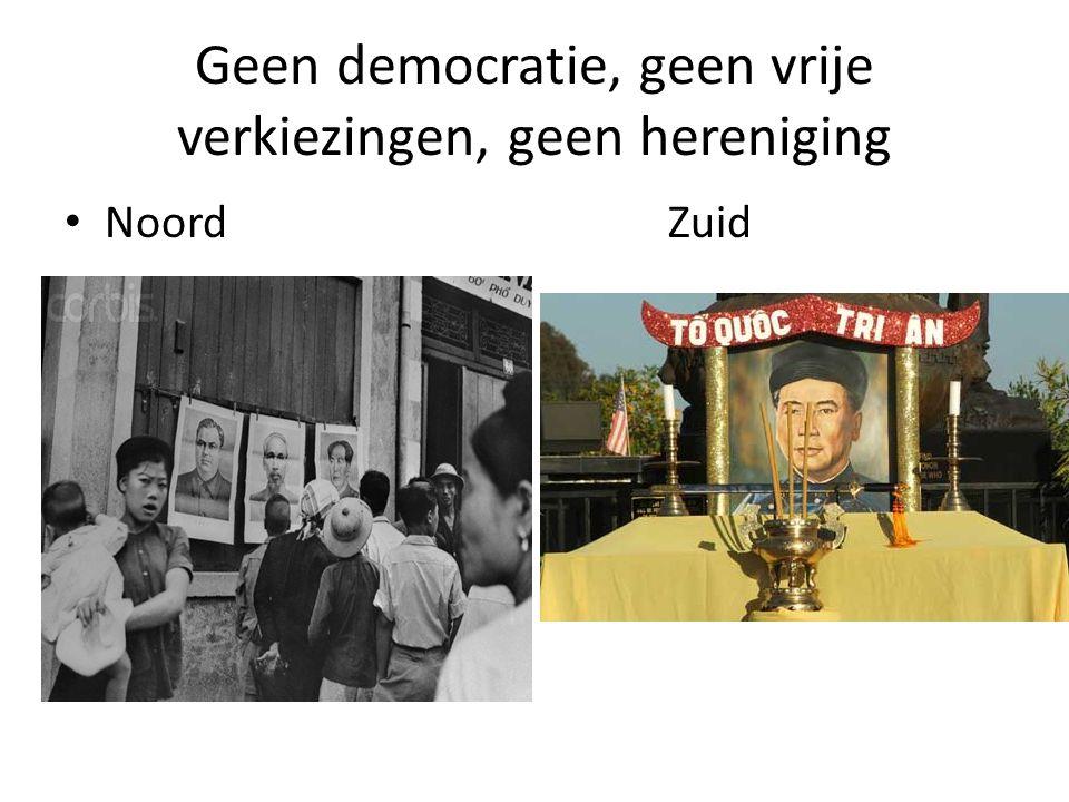 Geen democratie, geen vrije verkiezingen, geen hereniging