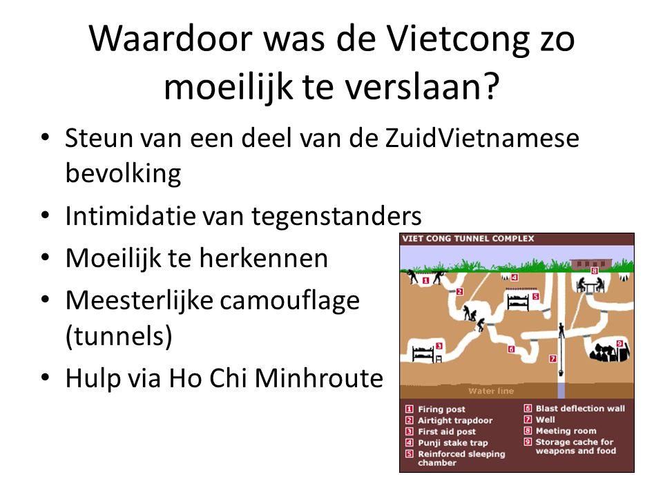 Waardoor was de Vietcong zo moeilijk te verslaan