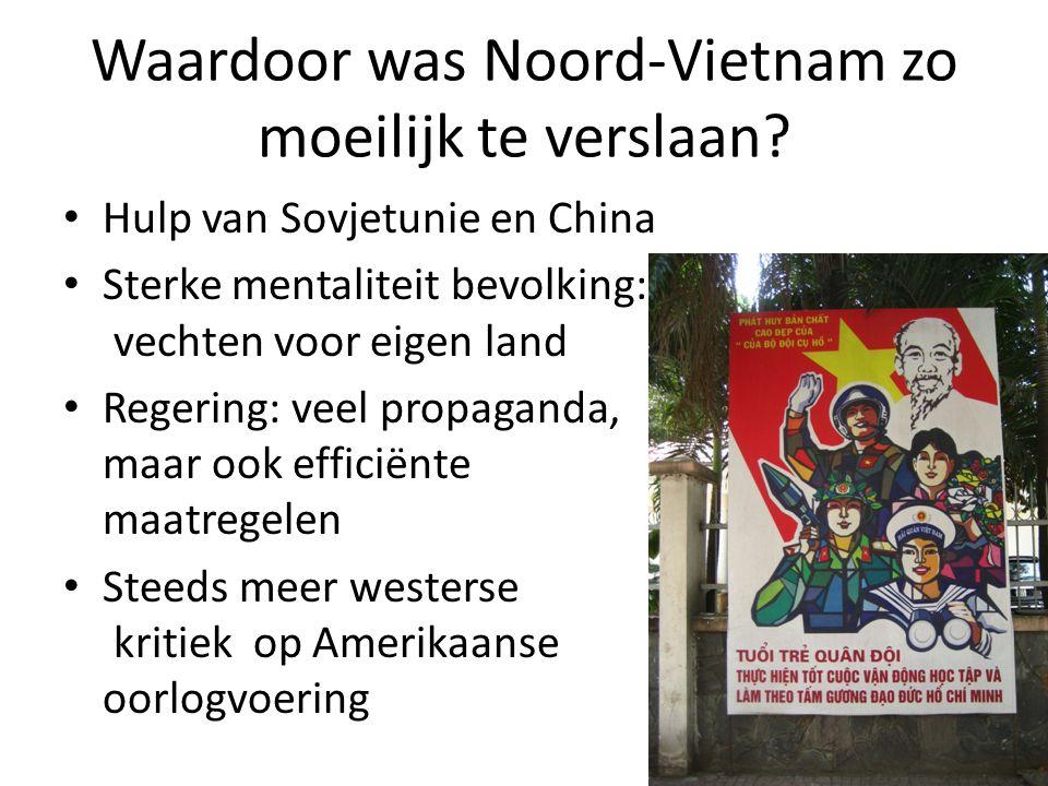 Waardoor was Noord-Vietnam zo moeilijk te verslaan