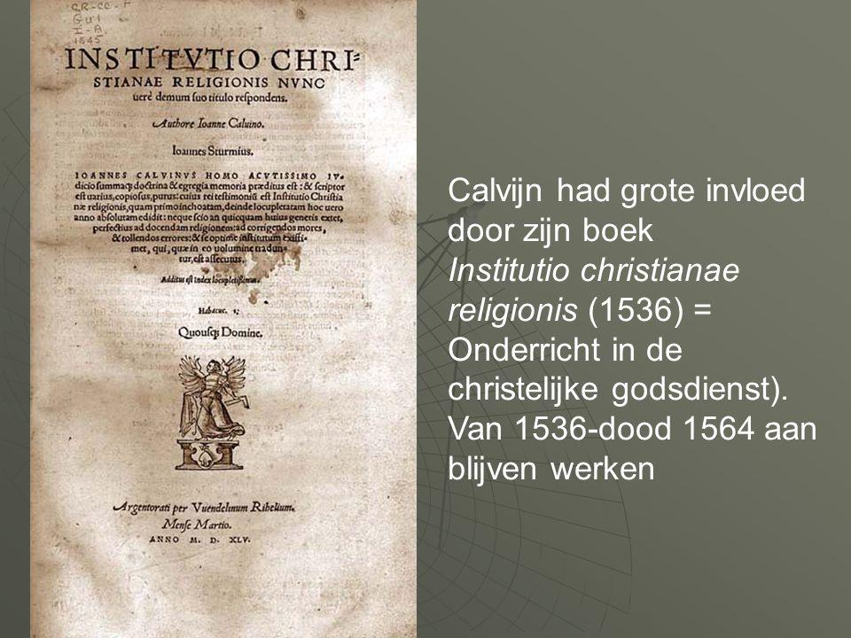 Calvijn had grote invloed door zijn boek