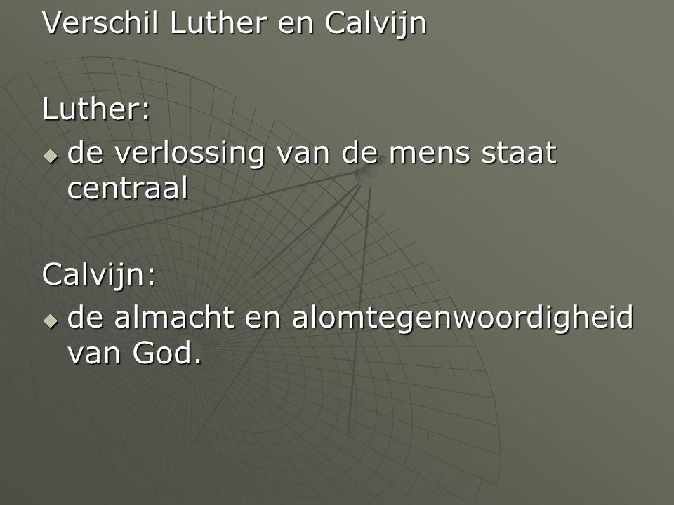 Verschil Luther en Calvijn
