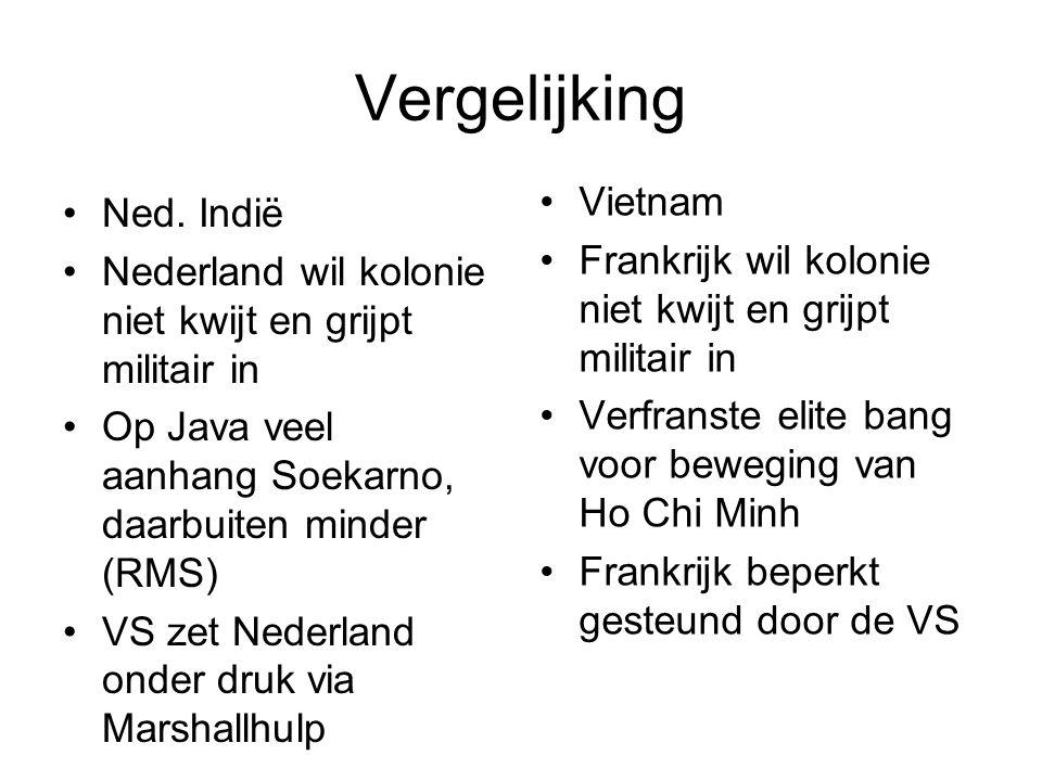 Vergelijking Vietnam Ned. Indië