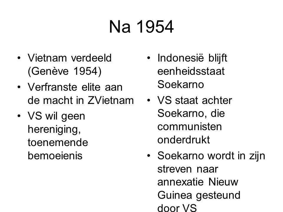 Na 1954 Vietnam verdeeld (Genève 1954)